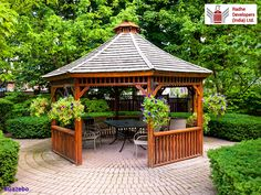 A #Gazebo is a pavilion structure, sometimes octagonal or turret-shaped, often built in a park, garden or spacious public area. They provide #Shade, #Shelter, ornamental features in a landscape, and a place to Rest. Some gazebos in public parks are large enough to serve as bandstands or #RainShelters. #RadianceResidency #LuxuriousApartmentsinAhmedabad #RadheDevelopers  Visit: http://www.radhedevelopers.com/projects/radiance-residency/