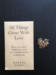 Flower seeds wedding favour