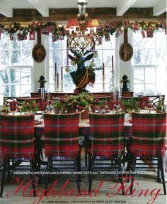 would be fun to slip cover dining chairs for the holidays...Carey Karlan, CT Cottage & Gardens, photo by Keith Scott Morton