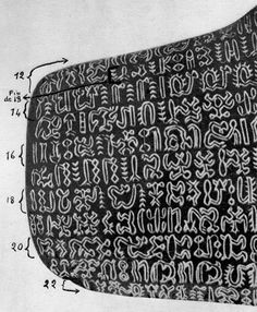 Rongorongo - the glyphs of Rapa Nui (Easter Island). Ancient Aliens, Ancient Art, Ancient Scripts, Ancient History, Ancient Tattoo, Ufo Evidence, Angel Images, Archaeological Finds, Easter Island