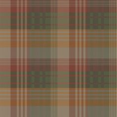 Mulberry Ancient Tartan (FG079T30) - Mulberry Home Wallpapers - A traditional plaid design with checks in shades of green, red, orange, beige and grey. Other colour ways available. Actual pattern repeat 26cm. A paste the wall product. Please request sample for true colour match.