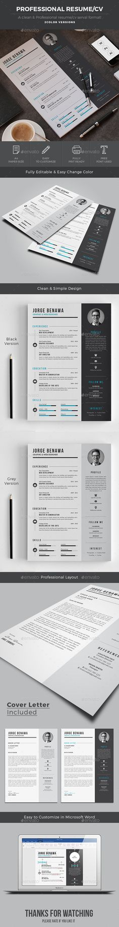Resume Cv template, Resume cv and Modern resume - net resume