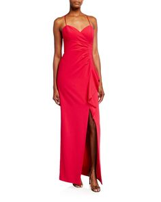 Parker Black Andy Sweetheart Side-drape Column Gown In Pink Parker Black, Gowns Online, Her Style, Cap Sleeves, Luxury Fashion, Silk, Clothes For Women, Formal Dresses, Neiman Marcus