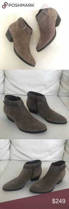 Aquatalia taupe beige suede ankle sz 9 booties NEW Aquatalia weatherproof taupe beige suede ankle sz 9 booties NEW   Brand new without box   Not what you're looking for? Feel free to browse my closet for other occasions: Winter, spring, summer, fall, birthday, New Year's Eve, Valentine's Day date, Graduation, Prom, Purim, St. Patrick's Day, Easter, Earth Day, Cinco de Mayo, Mother's Day, EDC, Coachella, Memorial Day, Comic Con, 4th of July, Labor Day, Thanksgiving, Halloween, Christmas…