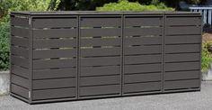 Garbage Storage, Storage Bins, Aluminium Box, Recycling Station, Bin Store, Back Garden Design, Trash Bins, Back Gardens, Patio