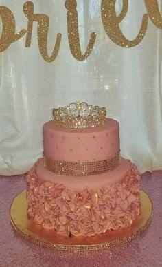 Super Baby First Birthday Girl Smash Cakes Mice 21 Ideas 15th Birthday Cakes, Sweet 16 Birthday Cake, Gold Birthday Cake, Birthday Cake Girls, Girl First Birthday, Quinceanera Cakes, Sweet 16 Cakes, Cake Shapes, Cupcakes