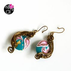 Orecchini Swirl Wire Wrapping