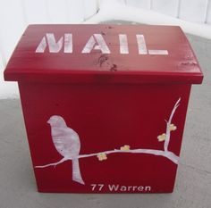 diy mailbox -paul can paint the bird. leave off the word mail