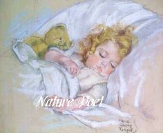 Maud Tousey Fangel Sleeping Child Digital, Downloadable, Printable Digital Art Image Instant Download This delightful image was created by Maud  Tousey Fangel. The child is a picture of innocence as she naps. The image was scanned from a vintage print, repaired and enhanced with color.