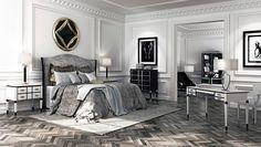 A beautiful luxury bedroom using our Nicosa bedroom furniture range