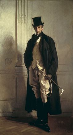 """Lord Ribblesdale by John Singer Sargent-Informally known as """"The Ancestor"""" because he looked so totally English."""