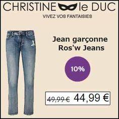 #missbonreduction; Déstockage : 10 % de réduction sur le Jean garçonne Ros'w Jeans chez Christineleduc. http://www.miss-bon-reduction.fr//details-bon-reduction-Christineleduc-i858720-c1836039.html