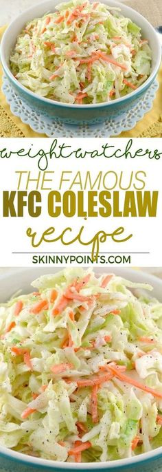 The Famous KFC Coleslaw Recipe - Weight Watchers Smart Points Friendly
