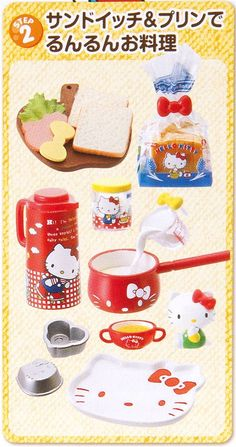 Hello Kitty Re-Ment box Cooking Time Set 2 sandwich