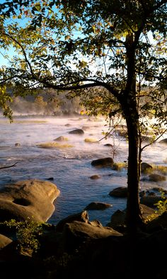 Morning view of the James River, Richmond, Virginia... found this pin, this is where I live lol