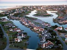The man-made river canals at St Francis Bay in the Eastern Cape is fast becoming a popular holiday destination amongst locals and tourists alike! Beautiful Places To Visit, Places To See, South Afrika, Out Of Africa, The Beautiful Country, St Francis, Sunshine Coast, Holiday Destinations, Aerial View