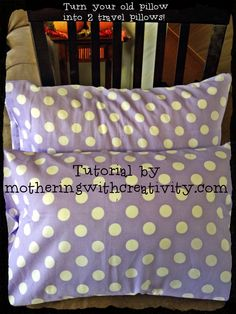 Mothering with Creativity: 10 Weeks to an Organized Christmas: Homemade Travel Pillows