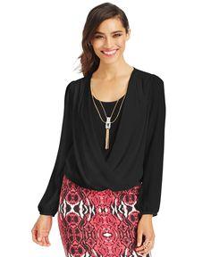 Thalia Sodi Layered-Look Draped Top, Only at Macy's