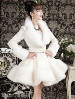 Grande-feito boneca rosa saia branca Rex cabelo pele de raposa casaco conjunto