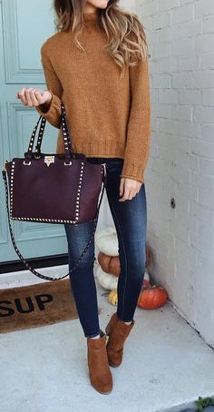 Brown Dust Turtleneck Sweater