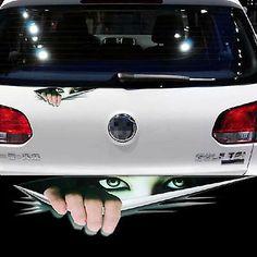 Funny Peeking Monster Auto Car Walls Windows Sticker Graphic Vinyl