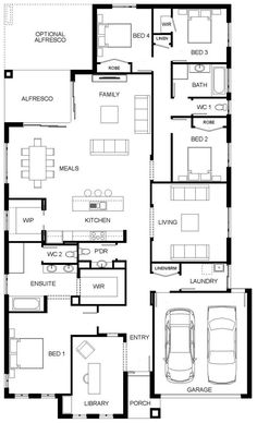 £: remove move retreat to living and turn powder into storeroom/ dogs bed Bungalow House Plans, New House Plans, Dream House Plans, House Floor Plans, Home Design Floor Plans, Dream Home Design, House Design, Design Jardin, Luxury House Plans