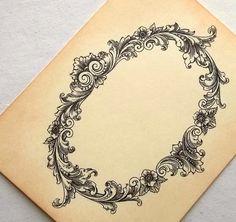 Wedding place cards, vintage inspired, diy, ornate frame, victorian