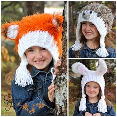 One of my newest patterns - I want to make the rabbit first!   Garden Friends Hoodlet