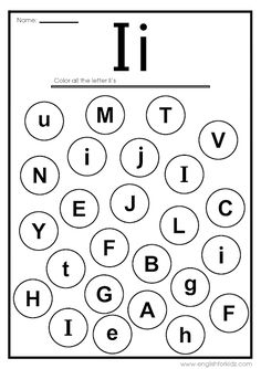 Letter I Worksheets, Flash Cards, Coloring Pages Letter I Worksheet, Phonics Flashcards, Alphabet Tracing Worksheets, Printable Alphabet Letters, Alphabet Phonics, Alphabet Coloring Pages, Fun Worksheets For Kids, Kindergarten Coloring Pages, Vocabulary Word Walls