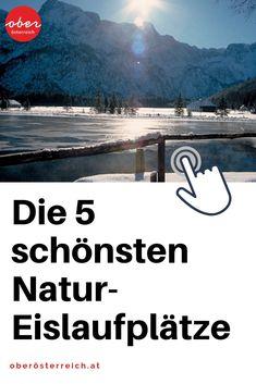 Eislaufen am See mit Bergkulisse? Für deinen Urlaub in Österreich haben wir für dich  haben wunderschöne Natur-Eislaufplätze in Oberösterreich anzubieten. #eislaufen #Winterurlaub #Wintersport #See Beach, Outdoors, Ice Skating, Ski Trips, Biathlon, Winter Vacations, The Beach, Beaches, Outdoor Rooms