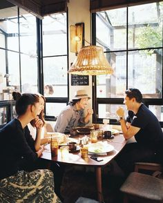 collinhughes:  Lunch with Tok from Truck Furniture, Justin Chung, Yuri, and Tok's wife Hiromi at Bird. Osaka JP, Oct 2013