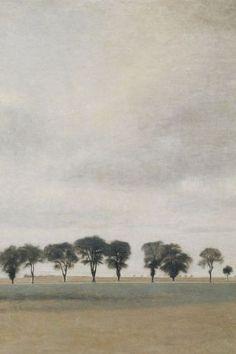 Vilhelm Hammershøi -  Paysag Royal Road Gentofte