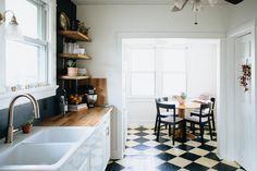 Black and White Modern Breakfast Nook