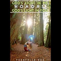 God's light in me honors God's light in you. #honor #OnlyGod #jesusfirstyogasecond #jesuschrist #christianyoga #christianyogi #light #lightonyoga #dream #tree #stopdropandyoga