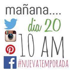 Mañana .... Día. 20.... 10 am ... #nuevatemporada