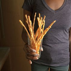 Cheese Straws by Saveur. We based this recipe on one in Joseph E. Dabney's The Food, Folklore, and Art of Lowcountry Cooking (Cumberland House, Holiday Party Appetizers, Finger Food Appetizers, Thanksgiving Appetizers, Appetizer Dips, Yummy Appetizers, Appetizer Recipes, Snack Recipes, Cooking Recipes, Party Recipes