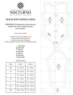 Costura fácil: Body manga larga + molde gratis – Nocturno Design Blog Tailored Fashion, Design Blog, Supergirl, Diy Clothes, Cosplay, Couture, Patterns, Shorts, Sewing