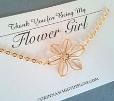 Wedding Jewelry - Flower Girl Gift Sunflower Necklace Silver or Gold bridal by CorinnaMaggyDesigns, $18.00