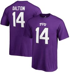 Andy Dalton TCU Horned Frogs Fanatics Branded Youth College Legends Name & Number T-Shirt - Purple