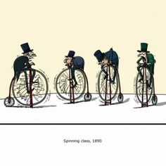 spinning in 1890 Like A Sir, Funny Jokes, Hilarious, Indoor Cycling, Spin Class, Calvin And Hobbes, Funny Cards, Videos Funny, Comic Strips