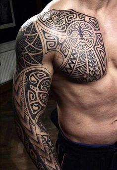 Cool-Maori-Tribal-Tattoo-For-Men.jpg (500×730)