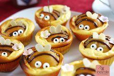 Bienen-Käsekuchen-Muffins zum 2. Geburtstag von Nele (Gebacken von shesmile)