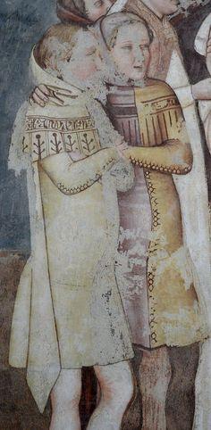 Tommaso da Modena (1326-1379) - Sant'Orsola si congeda dalla madre, dettaglio (Storie di sant'Orsola) - affresco - 1355-1358 - Musei Civici, Treviso