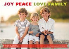 Joy And Family Christmas Card