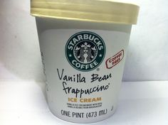 Crazy Food Dude Review: Starbucks Vanilla Bean Frappucino Ice Cream