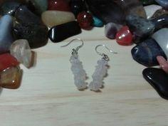 Rose Quartz chip earrings with sterling silver hooks Rose Quartz, Hooks, Chips, Gemstones, Jewellery, Sterling Silver, Earrings, Ear Rings, Jewels