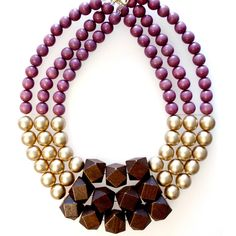 Autumnal Necklace. The same pattern could be used in so many ways!    #JewelryInspiration #CousinCorp