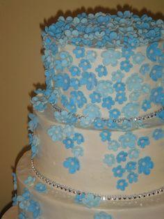 Blue floral detail