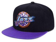 66c1dd42b12275 Men's Mitchell & Ness Green Utah Jazz Current Logo Wool Solid ...