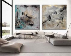 Two Art Prints Huge Wall Art Watercolor Print by JuliaApostolova